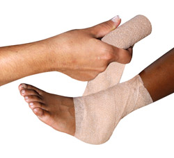 how to treat a sprained ankle