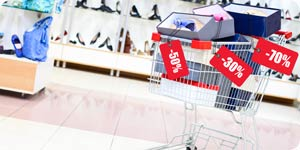 Shopping cart and bargain sale