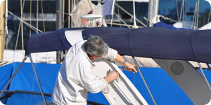 Cleaning boat railings