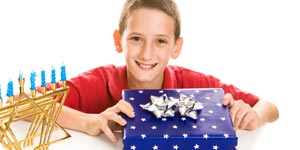 Boy with his gift