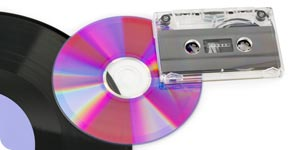 Photo of CD and cassette tape
