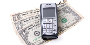 Cellphone with money