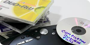 Using rewritable DVD to copy files