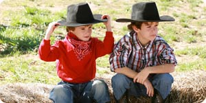 Photo of little cowboys
