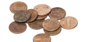 Dirty US pennies