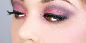 Girl with dramatic eyeshadow