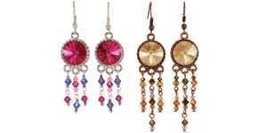Colorful earrings
