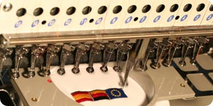 Embroidering machine