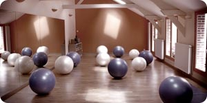 Exercise balls in the gym