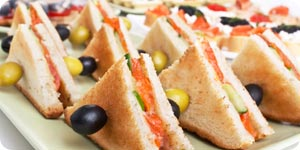 Toasted sandwiches with olives