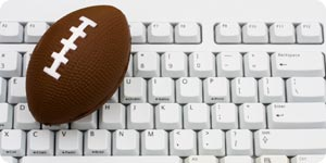 Football on top of the keyboard
