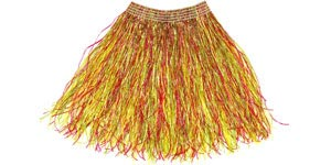 Colorful grass skirt