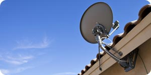 Photo of home satellite dish