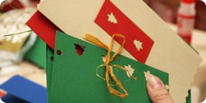 Colorful handmade holiday cards