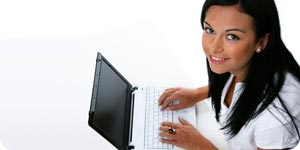 Photo of a laptop user