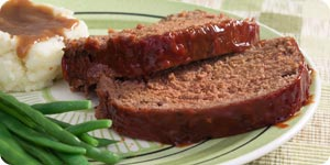 Meat loaf with sidedish