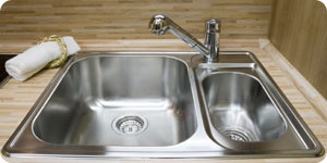 New stainless sink