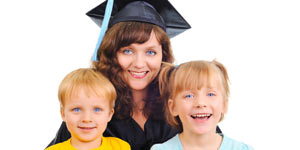 Graduate mother with kids