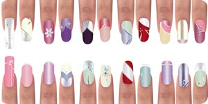 Different nail art designs