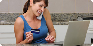 Using online credit card service