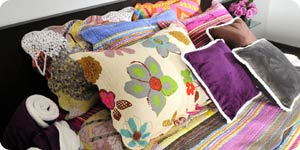 Colorful pillow cases