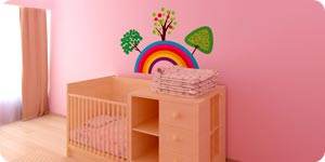 Pink room for baby girl