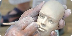 Photo of plaster sculpture