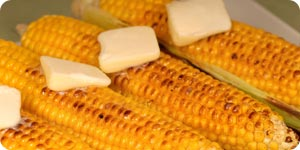 Roasted corn with butter