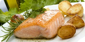 Salmon with side dish