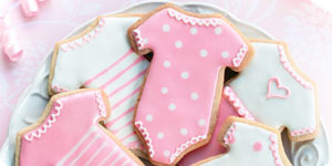 Dress shaped cookies
