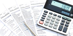 Income sheets with calculator