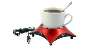 USB device and a cup of coffee