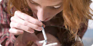 Girl using drugs