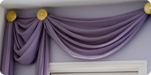Image of valance curtains