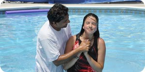 Photo of water baptism