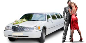 Photo of wedding limo