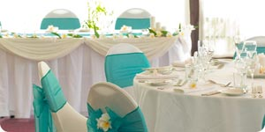 Wedding reception tables and chairs