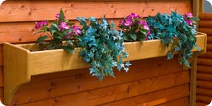 Image of wood planter