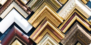 Collection of wooden photo frames