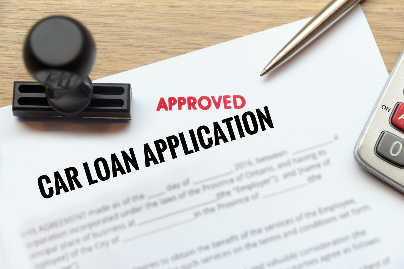 approved car loan application form
