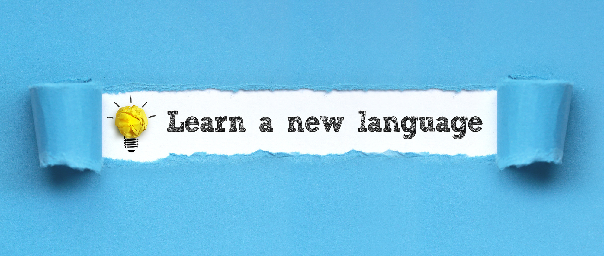learn a new language text