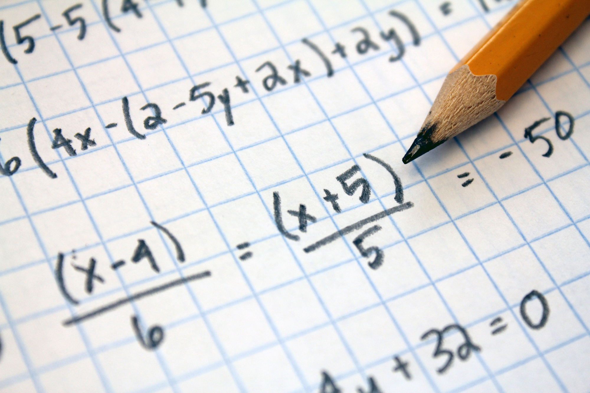 solving math equations in graph paper